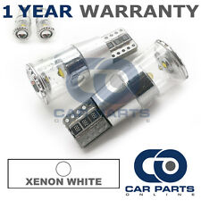 2X XENON WHITE W5W 501 SIDELIGHT NUMBER PLATE INTERIOR CREE LED BULBS CANBUS
