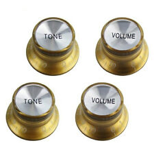 4 PCS Speed Knobs 2T2V Golden LP SG Style Bell Top Hat Shape#VT81