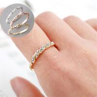 la forme des bandes engagement les femmes crystal mariage des bijoux une bague.