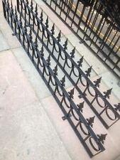 "Metal Galvanised Garden Low Wall Fencing RAILING per FT 12"" High"