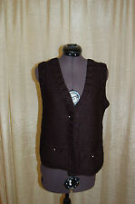 Sonia Rykiel Enfant Black Wool Blend Knit Vest Sweater Size 16ans (16 years old)