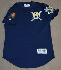 Vtg 1994 Milwaukee Brewers Team Issued Worn BP Jersey PATCHES Sz 44