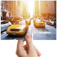 "Yellow New York Taxi Cab USA Small Photograph 6"" x 4"" Art Print Photo Gift #8548"