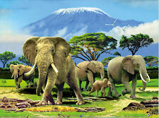 Elephant Family Lenticular 3D Picture Animal Poster Painting Home Wall Art Decor