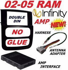 02 03 04 05 DODGE RAM INFINITY JBL ALPINE CAR STEREO RADIO DOUBLE DIN  DASH KIT