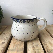 Bunzlauer Ceramica Brocca/BROCCA 1,0 L 11 cm dalla Polonia nuovo fatto a mano pezzo unico