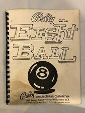 Bally Eight Ball Pinball Manual