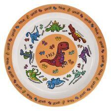 Orange Dinosaur Melamine Plastic Childrens Dinner Plate 21cm Kids Food Dish