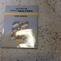 2009 Toyota Corolla Matrix Electrical Wiring Diagram Manual OEM EWD FACTORY 09
