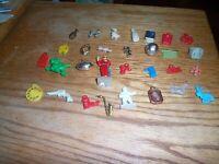 vintage lot small plastic toys vending machine charms  #tc1