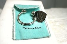 2001 Authentic Tiffany & Co Return To Heart Key Ring Sterling Silver 925 W/Pouch