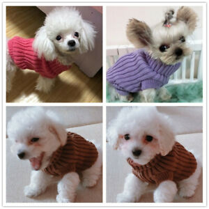 Cat Dog Hoodie Knitted Sweater Teacup Chihuahua Warm Coat Puppy Clothes Pet XXXS