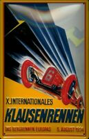 KLAUSENRENNEN 1934 SWISS MOUNTAIN RACE EMBOSSED METAL ADVERTISING SIGN 30x20cm