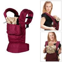 Baby Carrier Infant Wrap Sling Backpack Newborn Adjustable Rider Comfort Red Neu