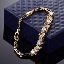 Gold Filled Quality Bracelet Made With Swarovski Crystals Birthday Wedding Xmas