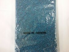 Bulk 18 ounces pack seed Beads very tiny - Silver-Lined Teal  12 beads per inch