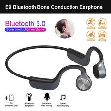 E9 Bluetooth 5.0 Bone Conduction Earphone Waterproof Outdoor Handsfree Headsets