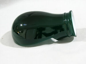 GREEN EMERALD CASED GLASS CLAM SHELL LAMP SHADE