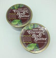 2 Pack - Trader Joe's Coconut Body Butter + Shea Butter & Vit E  (8 OZ ea.)