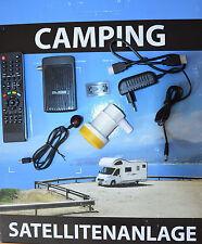HDTV Camping mobile SAT Anlage Mini HD Receiver Kabel LNB Koffer