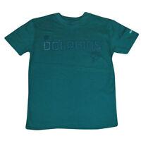NFL Miami Dolphins Reebok Boot Camp Sideline Tee Youth Tshirt DK3115 Aqua