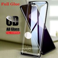 Full Glue 6D Screen Protector Samsung Galaxy S8 S9 Plus Note 8 9H Tempered Glass