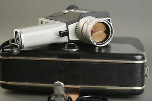 Canon single 8 518 movie camera in leather case