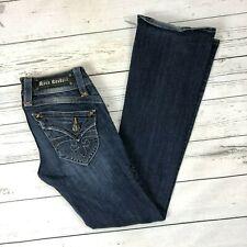 Rock Revival Gwen Boot Jeans Size 26 Womens Bootcut Dark Button Flap Pockets
