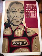 Sidney Bechet Pierre Merlin French Jazz Poster