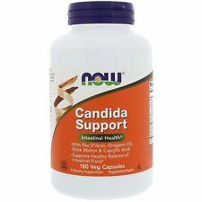 Now Foods Candida Support 180 Veg Capsules GMP Quality Assured, Kosher, Vegan,