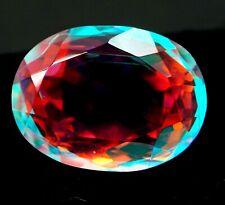 EGL Certified 16.20 Ct Natural Mystic Quartz Oval Shape Gemstone KK61