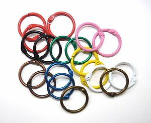 Metal Binding Rings 25mm in 10 Colours & Nickel, can be used with Tolsby frames