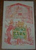 Menu for Menu for Village Barn Restaurant Greenwich Village, New York 1946