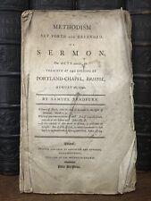 1792 FIRST ED John Wesley DEFENSE OF METHODISM Samuel Bradburn RARE