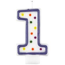 Polka Dot Number 1 Birthday Candles  - Amscan