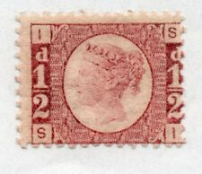 QV 1870 1/2d bantam Sg 48/49 plate 11 ( S I ) Mint with original gum.