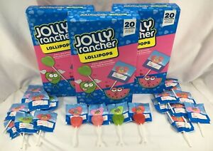 Jolly Rancher Heart Shaped Lollipops 3 Pk, 60 Count (27.6 oz) Total, BB 12/21