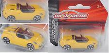 Majorette 212053051 Alfa Romeo 4C Spider, verkehrsgelb, STREET CARS
