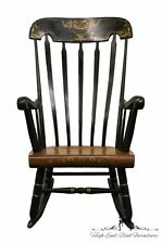 TELL CITY Gold & Black Boston Rocker Rocking Chair No. 660