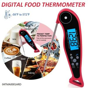 Waterproof Digital Instant Read Meat Thermometer Fit For BBQ Grill and Cooking