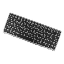 Black Replacement ES Laptop Keyboard Keypad w/ Silver Frame for HP Elitebook