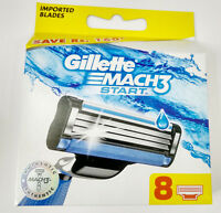 Gillette Mach3 Pack Of 8 Cartridges Men's Shaving Blades For Razor New Mach 3