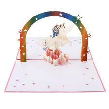 3D Pop Up Unicorn Greeting Cards Wedding Party Paper Invitation Cards