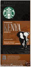 Starbucks Nespresso Espresso Kenya Coffee Compatible 10 Pods