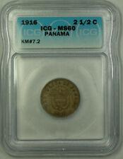 1916 Panama 2 1/2 Centesimos ICG MS-60 KM#7.2