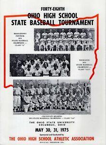 1975 OHIO HIGH SCHOOL STATE BASEBALL TOURNAMENT PROGRAM    VINTAGE+RARE   1975