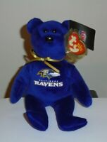 Ty Beanie Baby - BALTIMORE RAVENS the NFL Football Bear NEW - MINT with MINT TAG