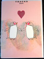 Blank Card by Tracks Cards. Heart Theme. 30 available - Multi Listing.