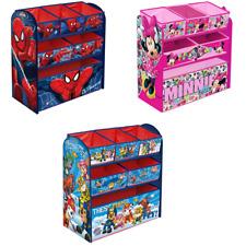 Character Toy Organiser Kids Bedroom Storage Wooden Frame Multi Bin Playroom Box