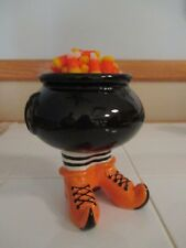 NEW-HALLOWEEN-Witch's Cauldron & Boots, Candy, Snack Bowl, Dish Decor-So Cute!